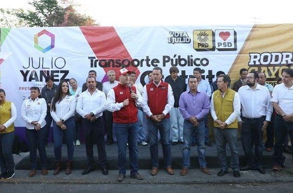 """Así lo dio a conocer durante el arranque de la propuesta de campaña """"Transporte Público Gratuito"""", que impulsa el candidato a la presidencia de Cuernavaca, Julio Yánez Moreno"""