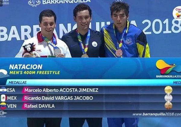 El fondista el morelense Ricardo Vargas se despidió de las aguas colombianas con la medalla de plata en los 400 metros libre, donde su tiempo de 3:51.52, con lo que mejora el récord mexicano de la prueba y supera lo hecho por él mismo en 2016, cuando registró 3:51.95 (Charlotte, USA)