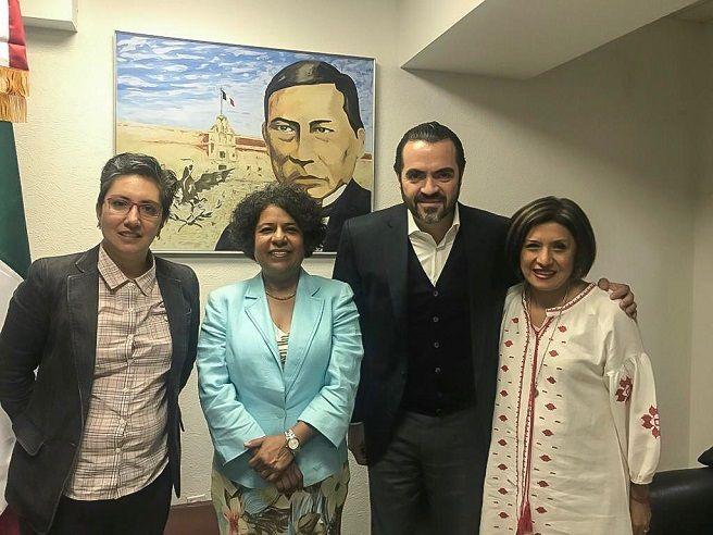Lo anterior al sostener una reunión de travajo con María Candelaria Ochoa Ávalos, titular de la Comisión Nacional para Prevenir y Erradicar la Violencia contra las Mujeres (CONAVIM), y en compañía de la directora del Instituto de la Mujer Morelos (IMM), Flor Dessiré León Hernández