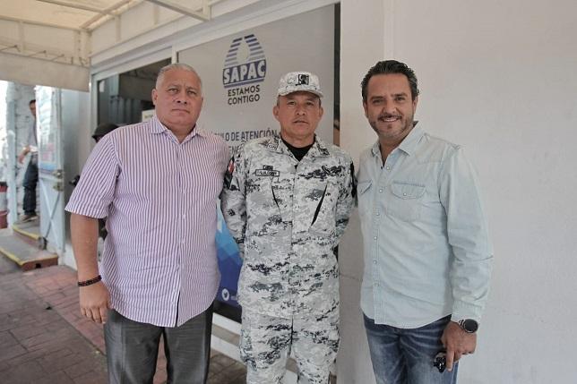 solicitó al Coronel Félix González Lara, encargado de la Guardia Nacional en Morelos, el respaldo a esa institución de seguridad a favor de SAPAC en este proceso de transición de la administración del SAPAC
