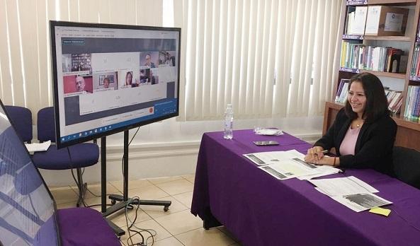 En la mesa de análisis, fungió como moderadora la comisionada presidenta del Instituto Morelense de Información Pública y Estadística (IMIPE), Dora Ivonne Rosales Sotelo, quien recapituló la historia del Órgano Garante en Morelos como parte de las demandas del Grupo Oaxaca