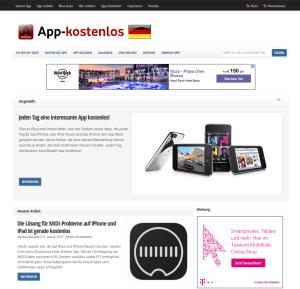 Screenshot des App-Review Blogs App-kostenlos.de