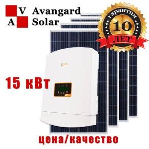 Сетевая солнечная электростанция 15 кВт: Solis и C&T