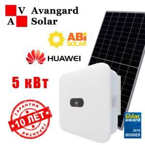 Сетевая солнечная электростанция 5 кВт: Huawei и ABi-Solar