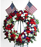 Image result for red white and blue wreath