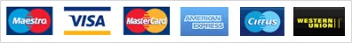 Payment Options - Maestro, Visa, American Express & Western Union