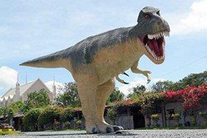 T-Rex saurier très grand lebensgroß 600cm pour l'extérieur en fibre de verre haute qualité plastique (GFK)