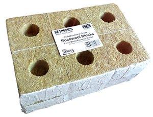 12blocs–4blocs en laine pour un système hydroponique. Grand intêret pour poser de pastilles Jiffy