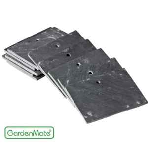 GardenMate® Lot de 10 signets marque-plantes en ardoise 10 x 7 cm – style moderne
