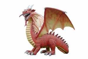 Grand Dragon de Feu Rouge XXL 400cm picorent pour extérieur en fibre de verre haute qualité plastique (GFK)
