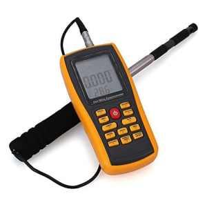 Caiyuangg® Digital Thermo anémomètre Mètre Air Vitesse du vent Température Volume testeur de débit