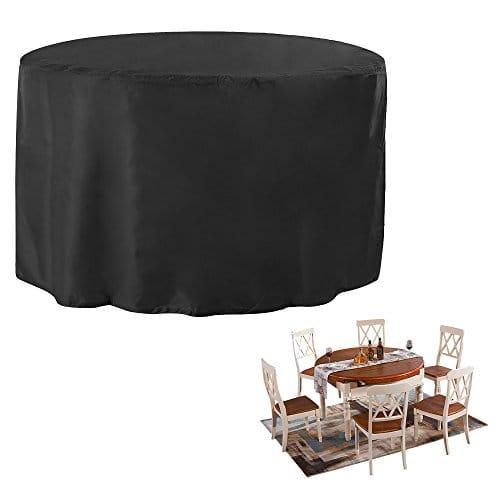 JTDEAL Housse de Jardin Table Ronde, Couverture pour Meuble ...