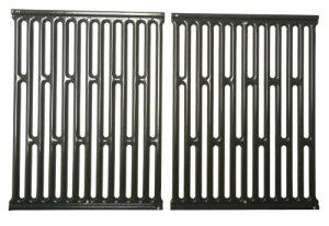 Music City Metals 58682 Set grilles de cuisson en acier émaillé (2 pièces) pour les grills à gaz de la marque Weber – Gris