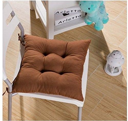srovfidy Chaise longue à roulettes en souple Coussin Siège en coussin séance de jardin 40x 40x 8cm 1PCS Coffee