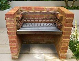 SunshineBBQs kit DIY Brique pour barbecue en acier inoxydable 67cm x 40cm–Neuf 2018Motif Les avec Heavy Duty Grilles de 6mm