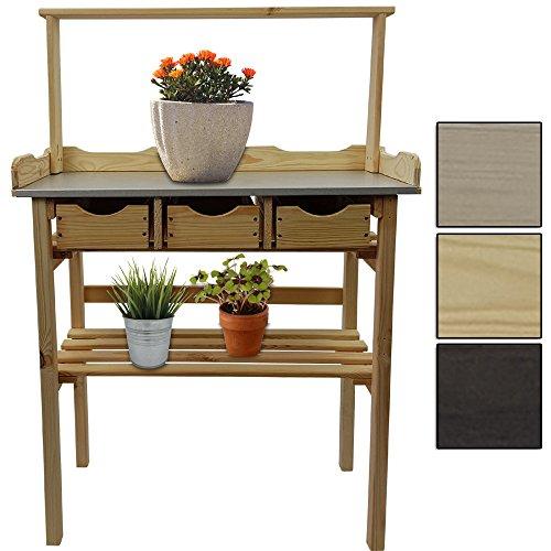 table pour plantes table de jardin avec 3 tiroirs 34 x. Black Bedroom Furniture Sets. Home Design Ideas
