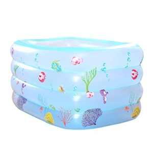 LYM &Chapellerie Baignoire gonflable, matériaux thermiques gonflables de grande famille de douche de Bath de Bath de Bath de bébé (Couleur : A, taille : 140*100*70cm)