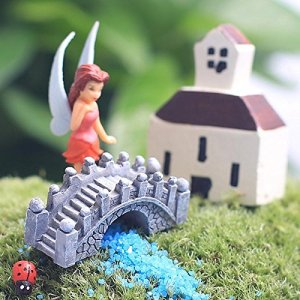 Zhuotop pont miniature Paysage Fairy Garden Terrarium poupée figurine Home Decor