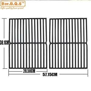 Bar. B.q.s en fonte de remplacement de grille de cuisson pour Weber Spirit 200Series, Spirit 500et Genesis Silver A, Lot de 2