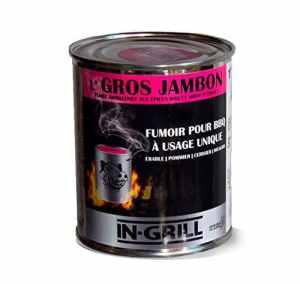 ♨ Fumoir / Boite de fumage barbecue avec bois pour fumage inclus – fumoir portable (120 min de fumée, environ 3 BBQ) – L' Gros Jambon