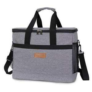 Lifewit 30L ( 50 Canette ) Sac-Glacière,Cooler Bag Sac Isotherme Portable Pour Déjeuner Plage Pique-Nique Camping BBQ, Gris