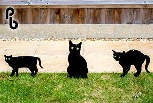 Lot de 3épouvantails chat Cat silhouettes avec vos yeux en Primrose Pestbye