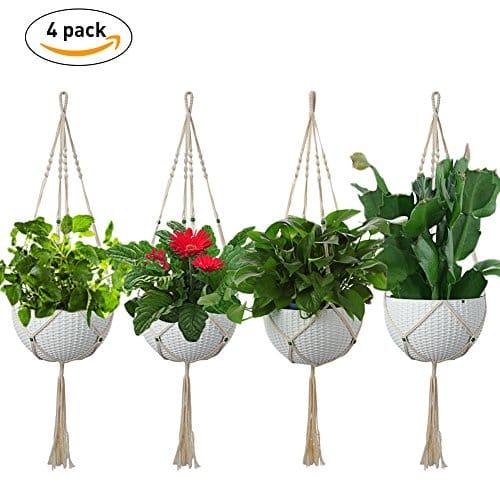 macram plante cintre lintimes suspension macram pour. Black Bedroom Furniture Sets. Home Design Ideas