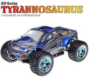 modeltronic Monster 1: 10Tyranosaurus en 2.4Ghz + chispo + 1L 4x 4Bleu