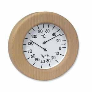 Thermo hygromètre dans un cadre en bois d'environ 155 mm