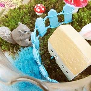 1pcs Panneaux Clôture de jardin Clôture Mini Signes Fée Dollhouse Décor de jardin Paysage miniatures 6# bleu clair