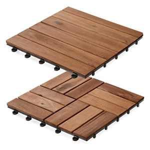 Dalles terrasse en bois casa pura® Arden   SET de 11 ou 33 pièces disponibles – bois d'acacia   stabilisées UV   33 pièces (3m²)