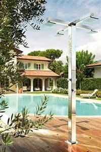Fontealta Douche de jardin en acier inoxydable pour douche Indra Q120/4