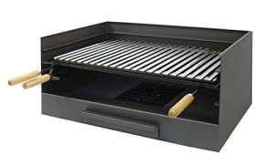 IMEX EL ZORRO 71514 Bac avec plaque en inox pour barbecue 72 x 40 x 33 cm
