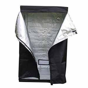 OHholly 120 x 120 x 200CM Tente de Culture hydroponique Imperméable pour la Culture de Plantules en Intérieur, Fait de papier d'aluminium et de tissu, Noir,