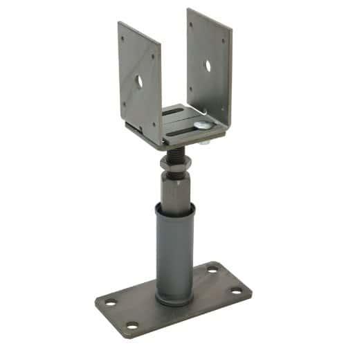 Sanifri 470018088Lot de 2piquets, aspect acier inoxydable réglable en hauteur et largeur