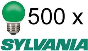Sylvania Plus Pack: 500pièces Outdoor Lampe de gouttes Vert E27IP440,5W