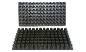 100graines de plastique avec plateaux–Chaque bac a 98cellules ~ cellules sont ronds 11/10,2cm X 11/5,1cm de profondeur. Idéal propagation plateaux–Full Coque