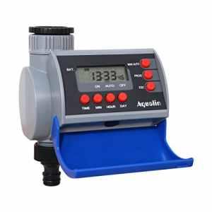 Aqualin Programmateur d'Arrosage Minuterie Eau Contrôleur d'Irrigation pour Jardin,Electrovanne
