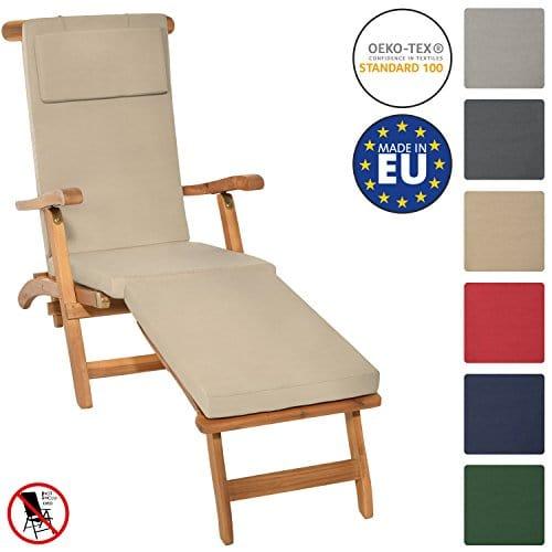 beautissu matelas coussin pour bain de soleil chaise. Black Bedroom Furniture Sets. Home Design Ideas