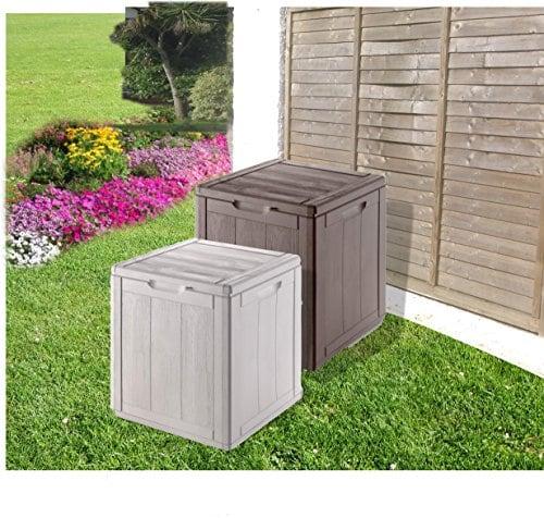 groundlevel.co.uk Impressionnante Boîte de rangement de jardin résistant aux intempéries–Gris Petite.