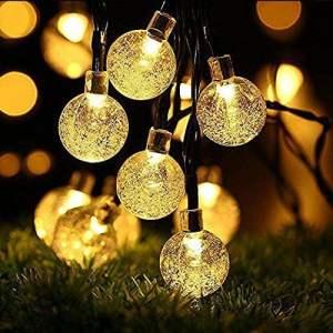 Guirlandes solaires, OxyLED 30 LED Jardin Patio Extérieur Guirlandes, Lumières D'intérieur / Extérieurs Extérieurs, Grand Jardin Terrasse Patio Extérieur Lumières De Noël (Ambiance Light)