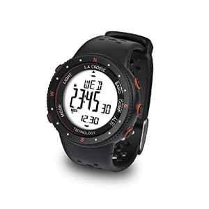 La Crosse Technology Montre WTXG17 – Orange – Altimètre, Baromètre, Boussole