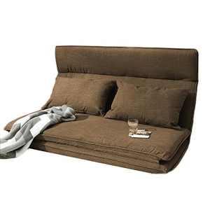 L-R-S-F Petit Lit Paresseux De Lit De Sofa Se Pliant De Chambre À Coucher Par Lit Paresseux Pour S'allonger Pour Dormir ( Couleur : Marron )