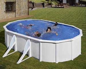 NEW plast piscine Caribe 650Dim 610x 370x 120avec filtre sable et accessoires–Newplast