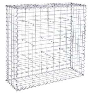 Songmics Gabion pour Pierres 100x95x30 cm Gabions Métalliques Déco Jardin Cage réticulé 5x10cm Diamètre fil de fer 4 mm GGB193