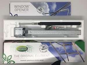 The Original Elloventtm automatique fenêtre de serre Opener, réglable de toit d'aération pour radiateur, fonctionne à l'énergie solaire, par Elloughton serres®