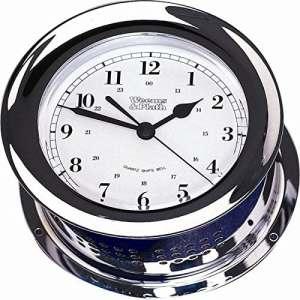 Weems & Plath Atlantis Collection Horloge Bell de navire à quartz (Chrome)