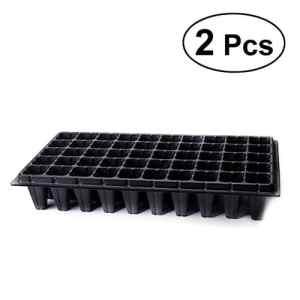 bestonzon 2pièces plateau de culture 50trous réutilisables en plastique (Noir)