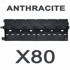 greenparck L0600A – Lot de 80 bordures – Vendu également par lot de 2, 4, 8, 20 et 40 – En résine composite ANTHRACITE