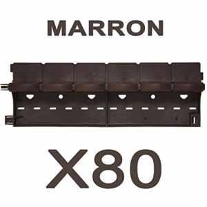 greenparck L0600M – Lot de 80 bordures – Vendu également par lot de 2, 4, 8, 20 et 40 – En résine composite MARRON